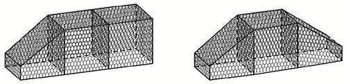 Резка габионов коробчатого типа при создании плавной траектории подпорных стен