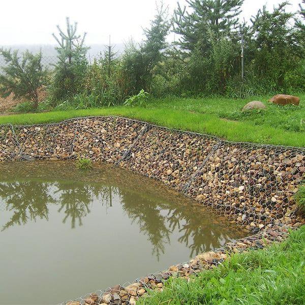 Создание естественного водоема с помощью габионных конструкций