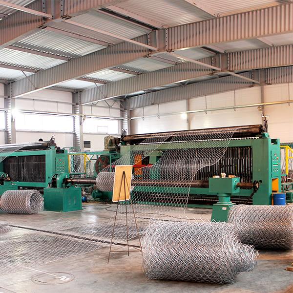 Производство сетки двойного кручения