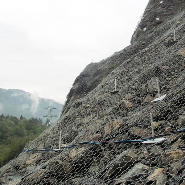 Применение сетки на склоне