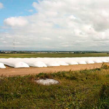 Зернохранение в полимерных рукавах